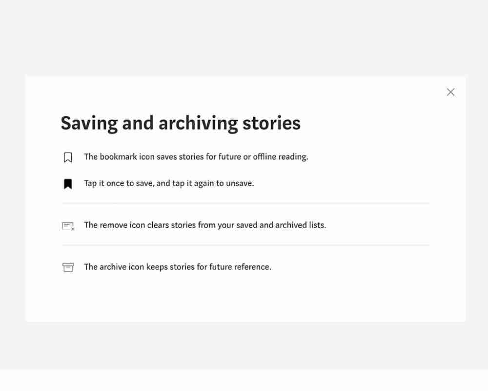 Medium.com  lets you bookmark articles you liked. Over time, you build up a massive library of content you might revisit regularly.