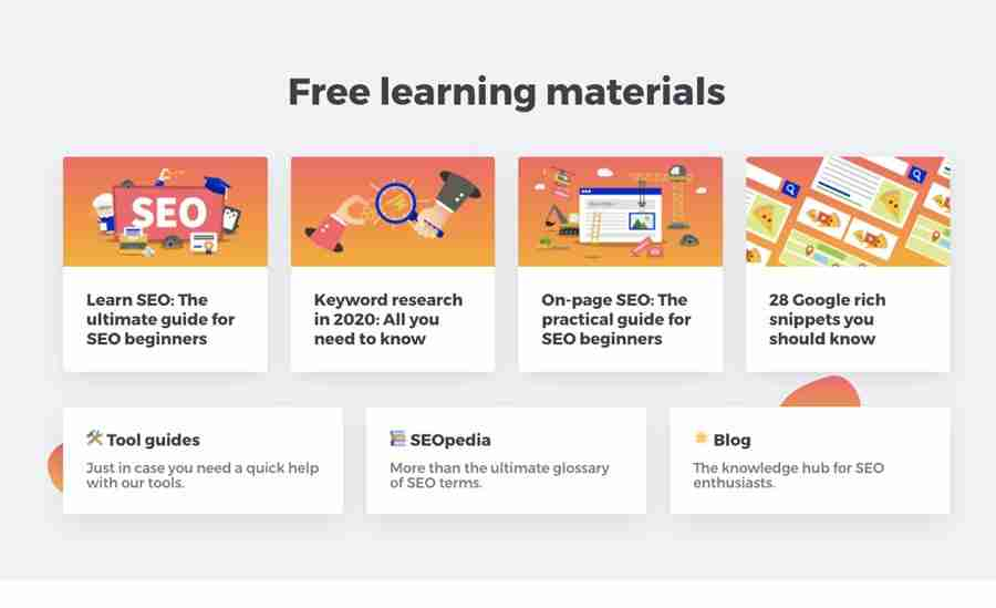Mangools is a set of SEO Tools you can use to increase your SEO game, research on competitors or improve content. Part of their strategy is to offer a library of training material for beginners.